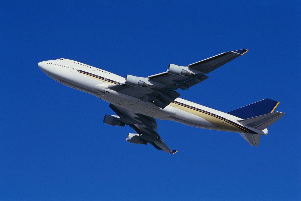 Boeing 747 Aircraft Taking Off